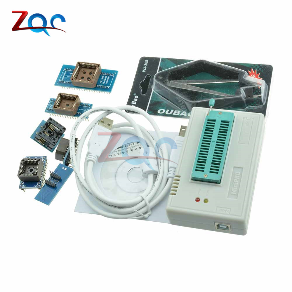 1 ensemble 13000 ICs TL866CS programmeur USB 2.0 EPROM FLASH BIOS 6 adaptateur PLCC IC programmeurs universels TL866A haute vitesse Original