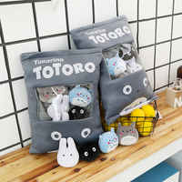 Totoro Stuffed Pillow With 4pcs mini size totoro Family anime dolls inside Push Throw Pillow Creative gift for Baby Girl and boy