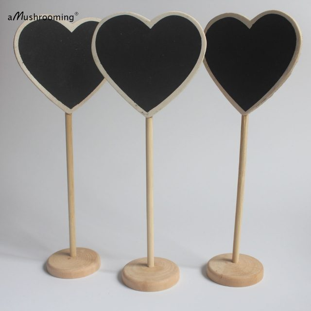 Online Shop Baby Shower 100pcs Heart Wooden Frame Blackboard on ...