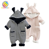 Baby Boys Girls Warm Winter Romper Cotton Newborn Fleece Christening Rompers Birthday 1st Christmas Thick Jumpsuit