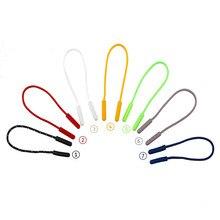 5 шт. 7 цветов застежка-молния съемник конец верёвка для упражнений тег фиксатор молния шнур вкладка рюкзак жакет молния голова не скользящая веревка