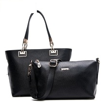 Women PU Leather Handbags FOUR COLORS Large Tote Shoulder Bags Fashion Lash Package Composite Bag for Female Bolsa