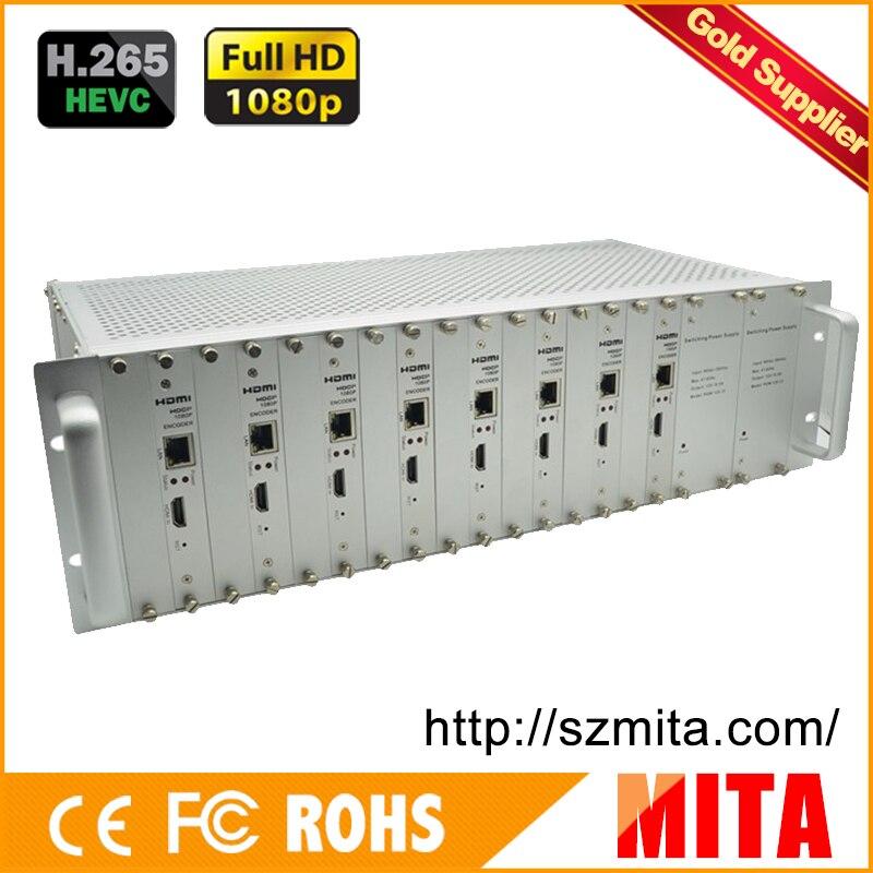 H.265 MPEG-4 AVC 8 canaux hdmi vers dvb-c modulateur d'encodeur vers VLC Media Server Xtream Codes