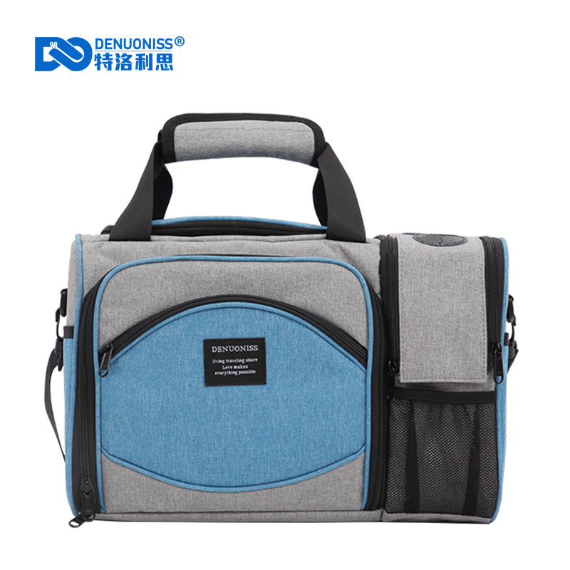 DENUONISS New 2020 Waterproof Picnic Bag Insulated Portable Fabric Thermal Cooler Bag Large Volume Storage Beer Wine Bag(China)
