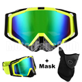 Motocycle goggles Protective Eyewear Sports Glasses With Mask New Yellow Black Motorcycle Goggles