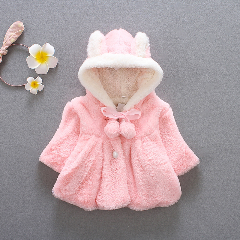 Toddler Baby Infant Girls Winter Thick Warm Hoodie Coat Jacket Outfits Clothes