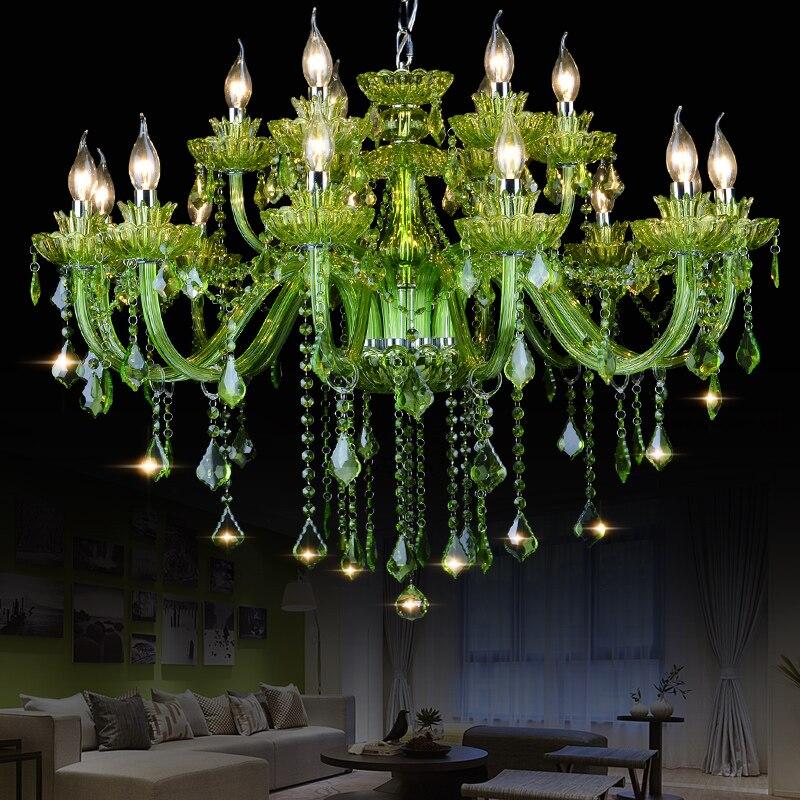 Hoge Kwaliteit Groene K9 Kristallen Kroonluchter Lustre Kroonluchters - Binnenverlichting