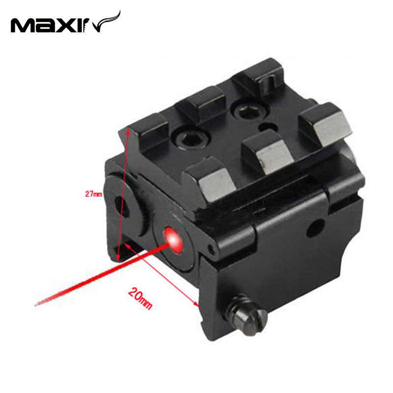 Mini Réglable Compact Red Dot Laser Sight Fit pour Glock 17 19 avec 20mm  Rail Mount