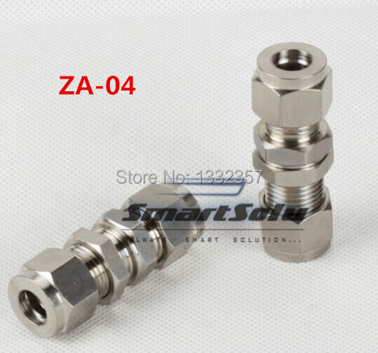 Free Shipping For 4mm 4mm Tube Stainless Steel Bulkhead