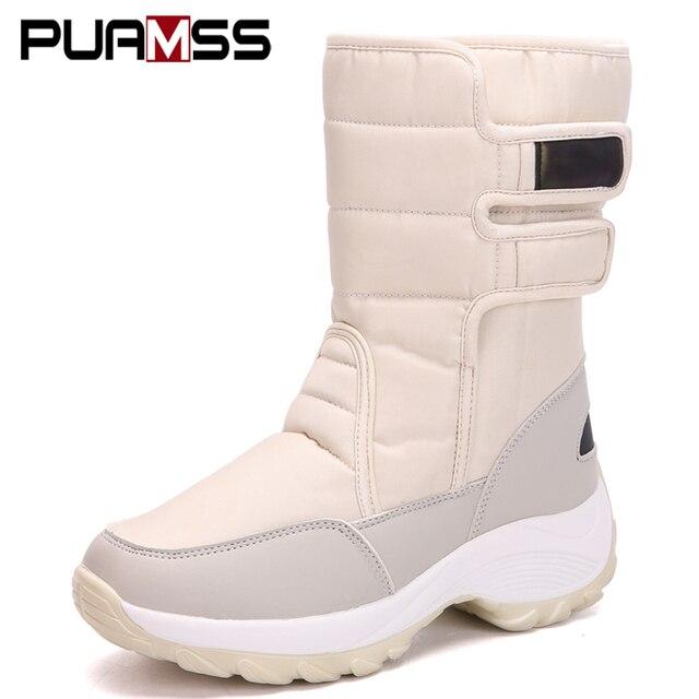 النساء أحذية 2018 جديد المرأة الأزياء القمر الأحذية حذاء الثلج عالي الرقبة دافئ بو قصيرة أفخم الإناث الأحذية الشتاء النساء حذاء رياضة بوتاس