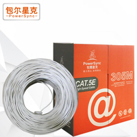Powersync 305M 1000Mbps CAT5e RJ45 High Quality Ethernet Internet Network Cable Cord Grey High Speed For