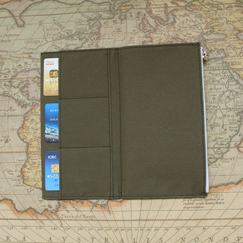 Fromthenon Traveler Notebook Journal Storage Bag Vintage Olive Green Canvas Stationery Card Holder For Midori Travelers Notebook