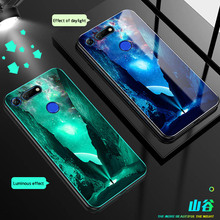 Luminous Glass Case For huawei Mate 20 Lite  20X Back Cover Huawei PRO Honor V20 Cases