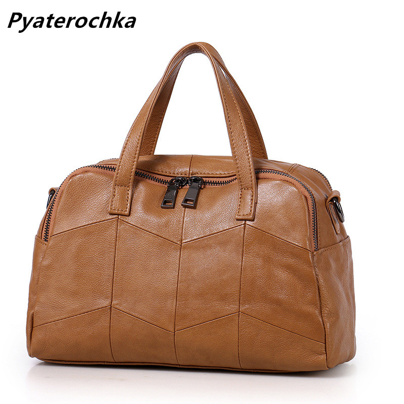 a1376596bc705 Pyaterochka Hobo Handbags Genuine Leather Patchwork Korean Style ...