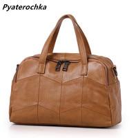 Pyaterochka Hobo Handbags Genuine Leather Patchwork Korean Style Luxury Fashion Casual High Quality Shoulder Bag Ladies Hand Bag