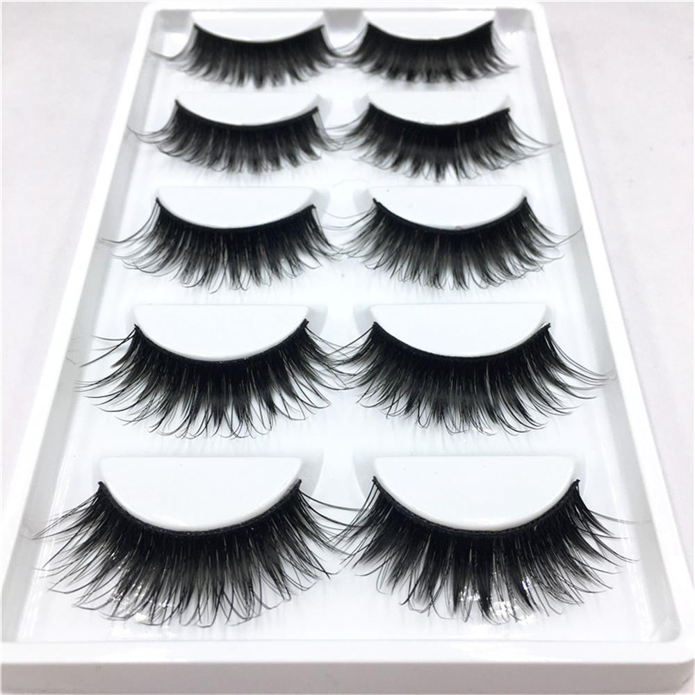 5 Pairsset Elegant Women Ladies Makeup False Eyelashes -3385