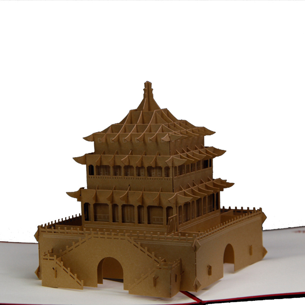 Aliexpress Buy Kirigami 3D Pop Up Card Vintage Bell Tower Handmade Greeting Cards For Business Or Friendship Free Shipping From Reliable Mobility