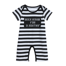 Baby Romper Infant Toddler Kids Cotton Short Sleeve Striped  Letter Print Jumpsuit Boy Girl Clothes Body Clothing Rompers