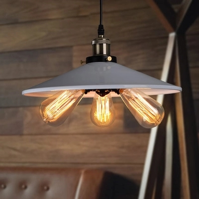 American country style retro creative industrial restaurant bar iron three Pendant Lights