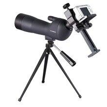 20-60×60 Telescopio visión HD noche Telescopio Monocular Para Acampar Al Aire Libre de Alta Potencia Compacto Telescopio con Trípode de Montaje