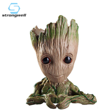 Groot Flowerpot Flower Pot Planter Figurines Tree Man Rein Cute Model Toy Pen Garden Gift