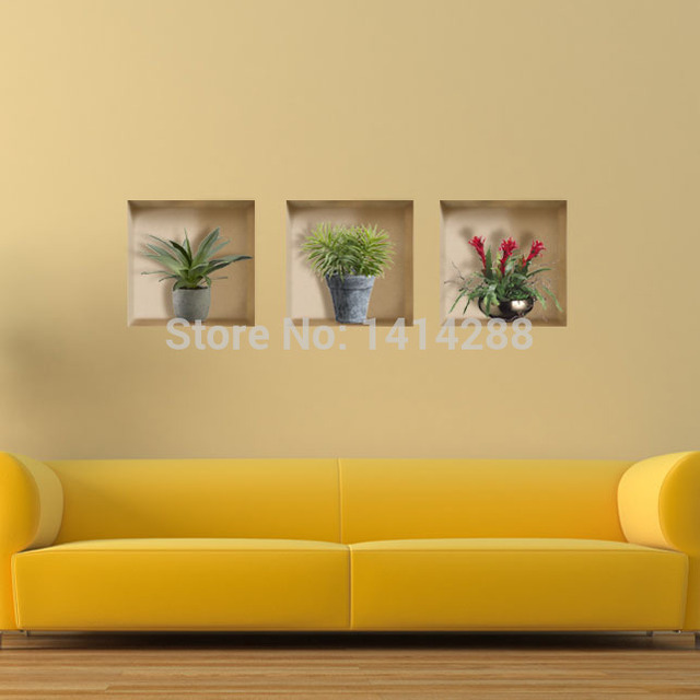 Living room wall stickers 3D three dimensional floor paintings ...