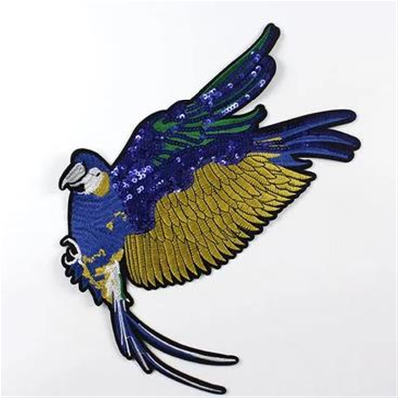 Fashion T shirt Women sequins patches for clothing 32cm fly animal patch deal with it 3d t shirt mens Christmas gift stickers
