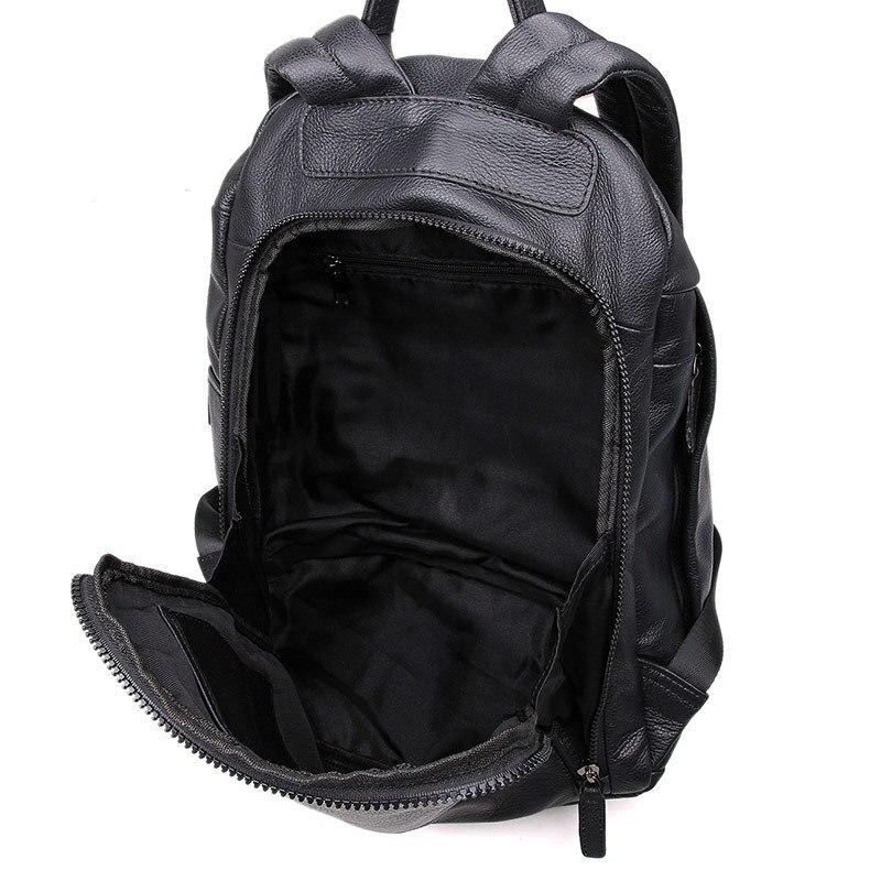 M2005 Noir Femme Dos Pour Voyage D'école Femmes Nouvelle Fille Véritable En Sacs Nesitu Réel Homme Sac Peau Cuir Hommes À Mode FRq1ExwS