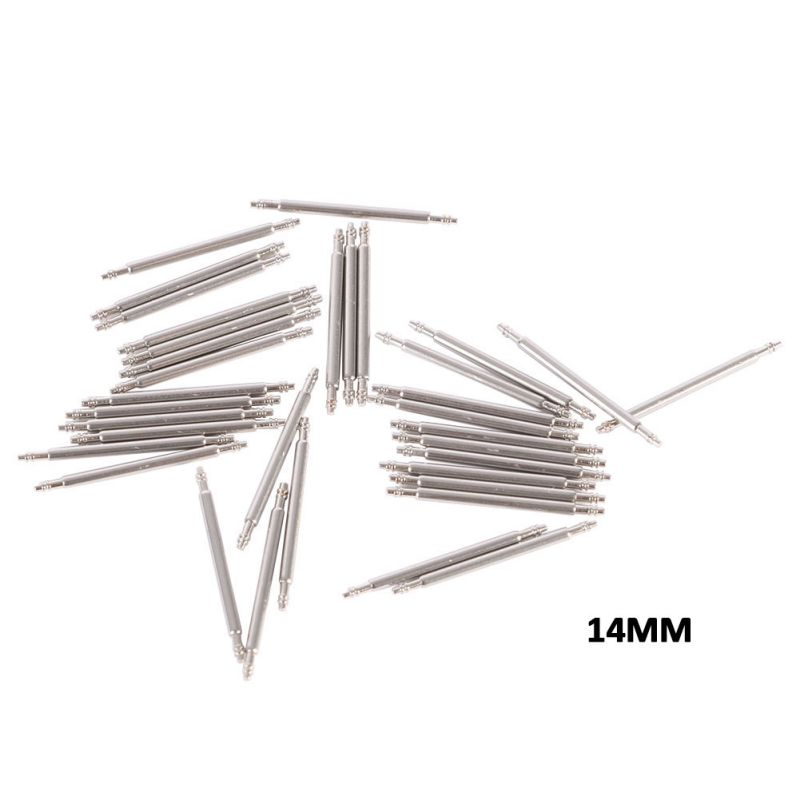 20pcs Stainless Steel Watch Band Spring Bars Pins Repair Watchmaker Link Pins Remove Tools 12-26mm Unisex Watch Accessories