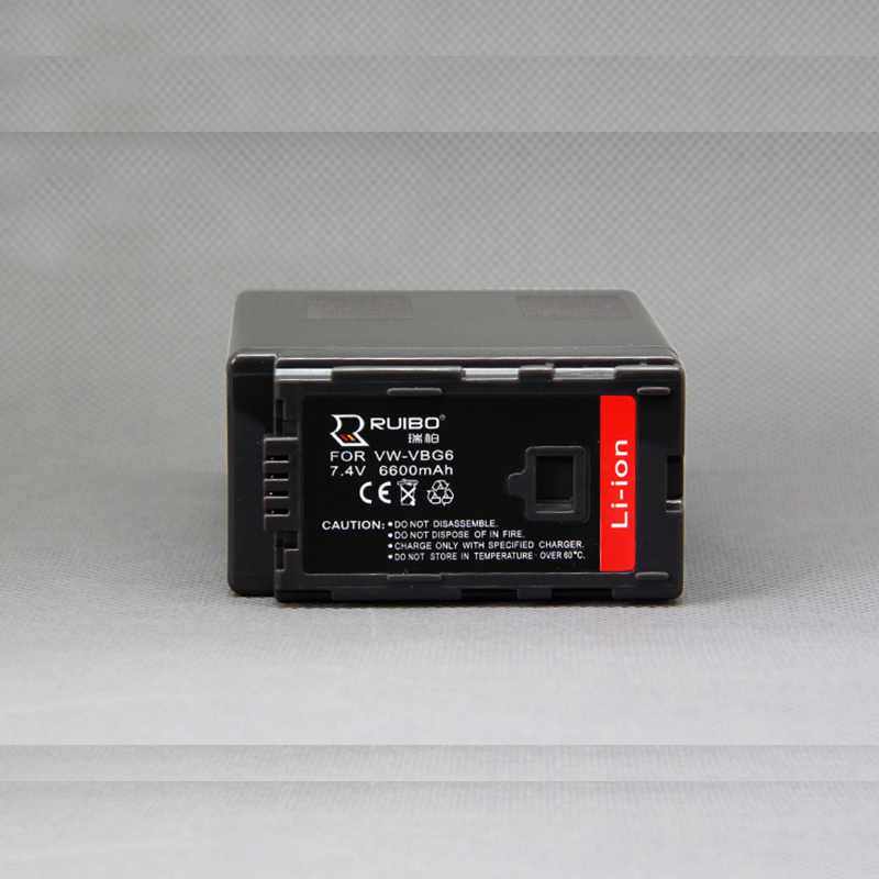 6600mAh for Panasonic VW-VBG6 Panasonic AG-HMC73MC/153MC/130MC HDC-MDH1 Camera Battery 7.4V Camcorder AG-HMC70U AG-HMC151E AG-HM