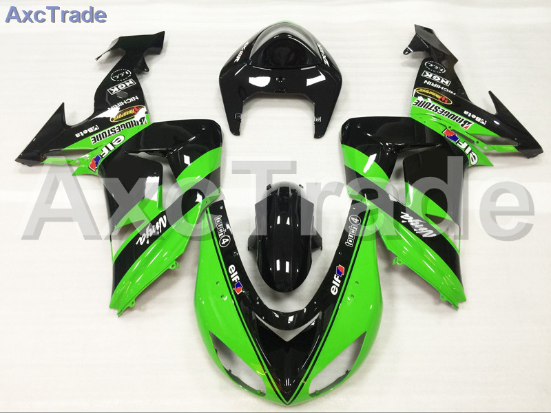 Motorcycle Fairings Kits For Kawasaki Ninja ZX10R ZX-10R 2006 2007 06 07 ABS Plastic Injection Fairing Bodywork Kit Green Black moto motorcycle fairing kit for kawasaki ninja zx10r zx 10r 2008 2009 2010 08 09 10 abs plastic fairings fairing kit white black