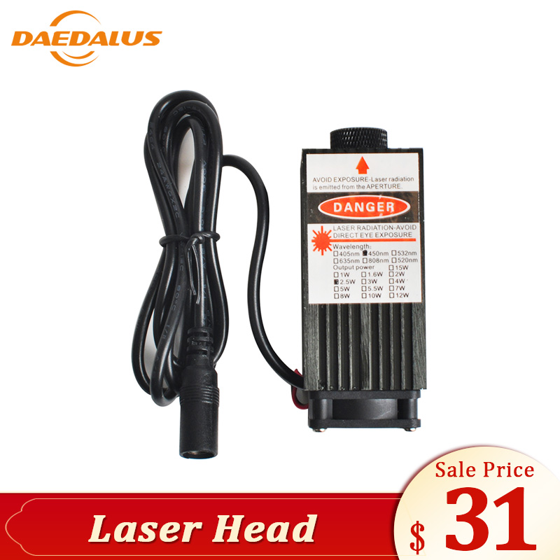 Daedalus Engraving Laser Accessories Laser Module 500mw 2500mw 5500mw Laser Head Adjustable Laser Power With Protective Glass