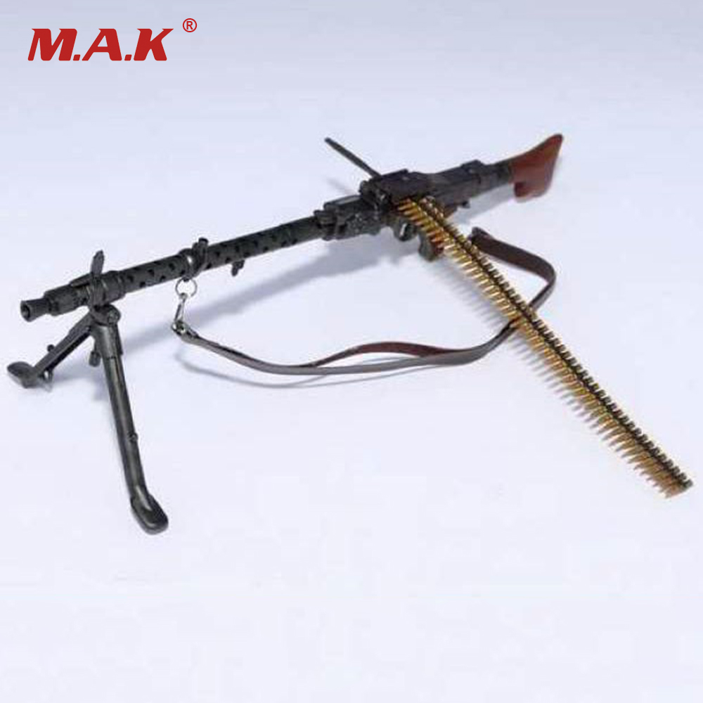 цена 1/6 Scale Light Machine Weapons Model WWII German Maschinengewehr 34 Gun Model Toys For 12