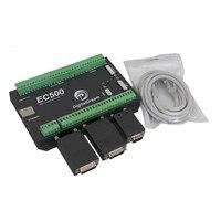 EC500 Ethernet 3/4/5/6 Axis Mach3 CNC Motion Control Card Breakout Board 460KHz 24V DC Support Standard MPG&Stepper/Servo Driver