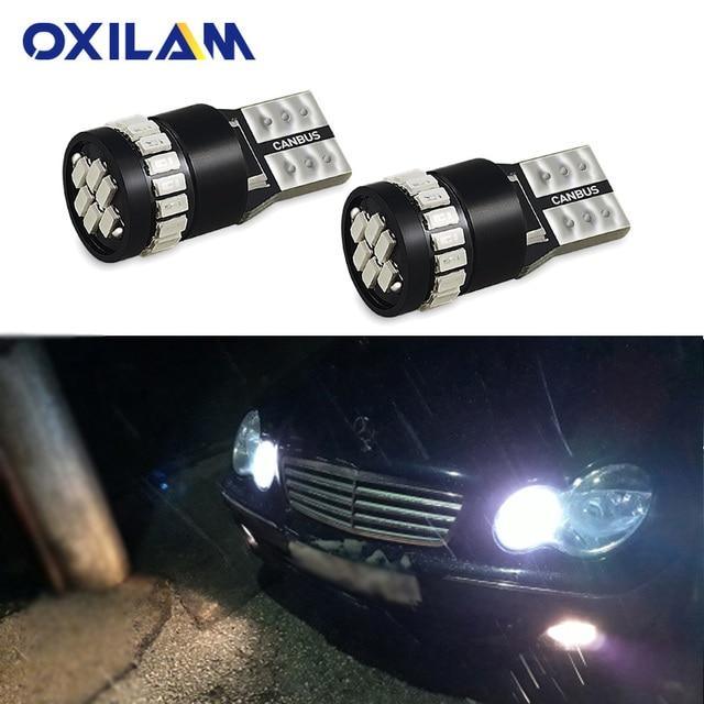 2x W5W T10 bombilla LED bombilla de luz de estacionamiento para Mercedes Benz W204 W203 W205 W211 W212 W210 W124 194, 168 luz Interior del coche