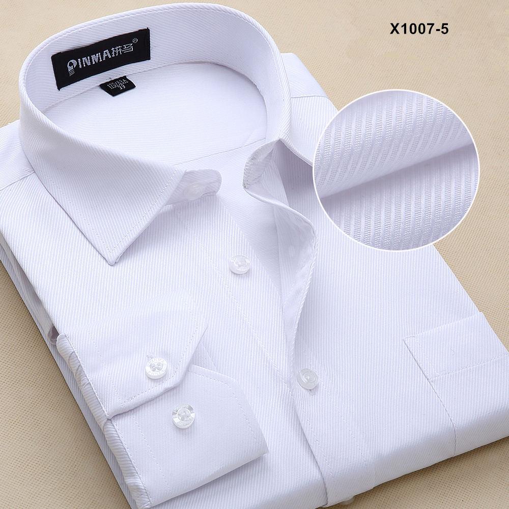 Новое поступление мужская одежда повседневные рубашки с длинными рукавами мужские рубашки с отложным воротником мужские рубашки однотонные рубашки для мужчин - Цвет: PM10075
