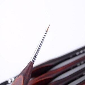 Image 4 - 6Pcs คุณภาพสูง Hook Line ปากกา Fine สีน้ำแปรง Professional Drawing Art Gouache ภาพวาดสีน้ำมันแปรง Art อุปกรณ์