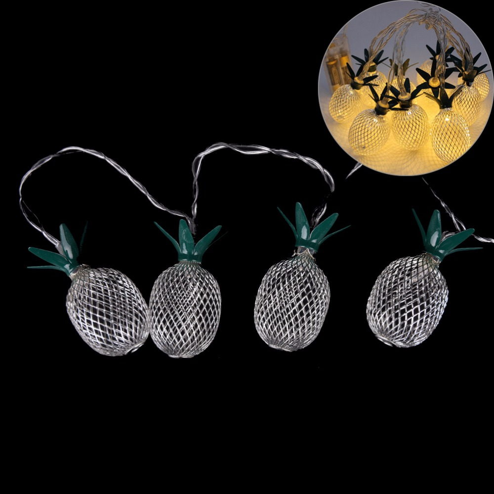 Outdoor String Lights Aliexpress : 2017 New 10pcs Metal Pineapple Fairy String Light Christmas Decoration Outdoor Patio Wedding ...