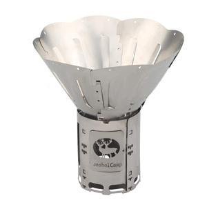 Image 1 - موقد خشب قابل للطي من سبائك التيتانيوم متعدد الوقود للشواء والتخييم في الهواء الطلق الشعلات المحمولة فانوس الكحول نزهة الحطب