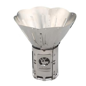 Image 1 - Titanium Alloy Folding Wood Stove Multifuel BBQ Camping Outdoor Burners Portable Alcohol Lantern Picnic Firewood