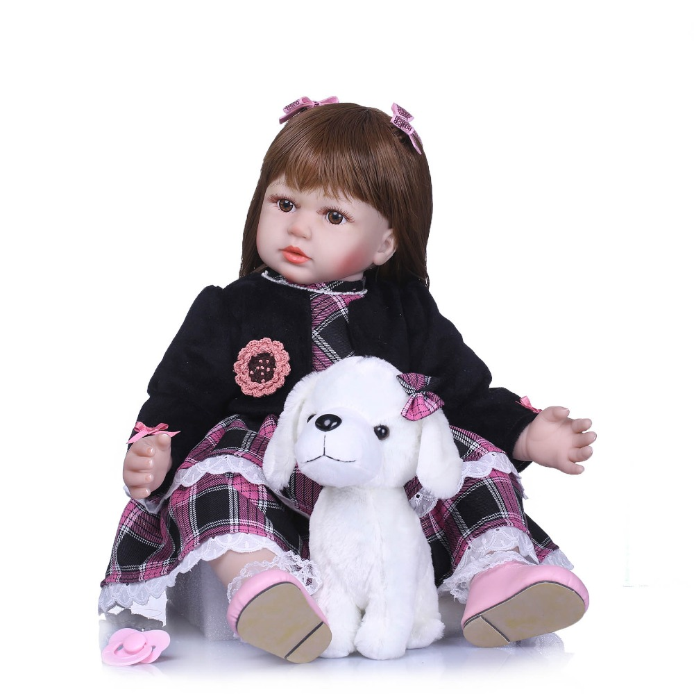 NPKCOLLECTION 58cm Realistic Soft Silicone Doll Reborn Baby 23 Newborn Baby Lovely Birthday Gift Bedtime Early Education ToyNPKCOLLECTION 58cm Realistic Soft Silicone Doll Reborn Baby 23 Newborn Baby Lovely Birthday Gift Bedtime Early Education Toy