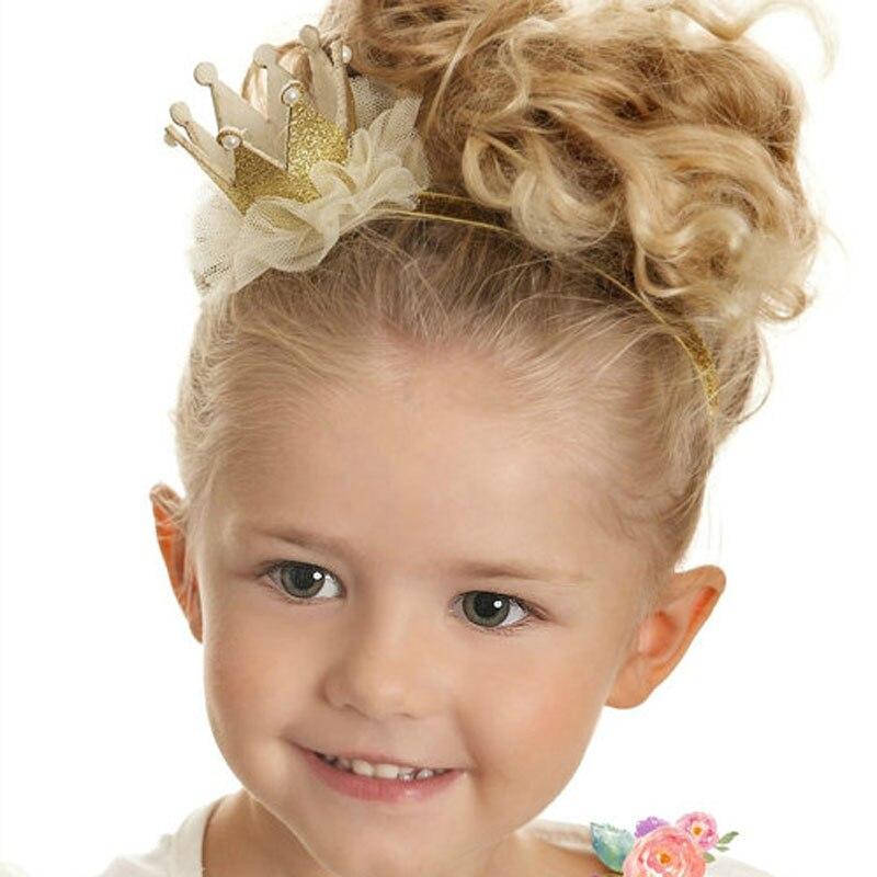 Baru gadis Crown Headband untuk Aksesoris Rambut Putri Mahkota Headband  Gadis Tiara headband Crown Glitter Crown 1 PC d836286448