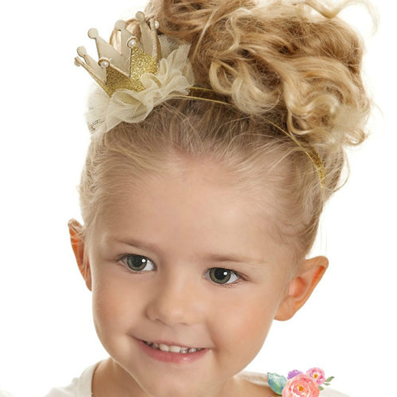 New girl Crown Headband for Hair Accessories Princess Crown Headband Girl Tiara headband Crown Glitter Crown 1PC