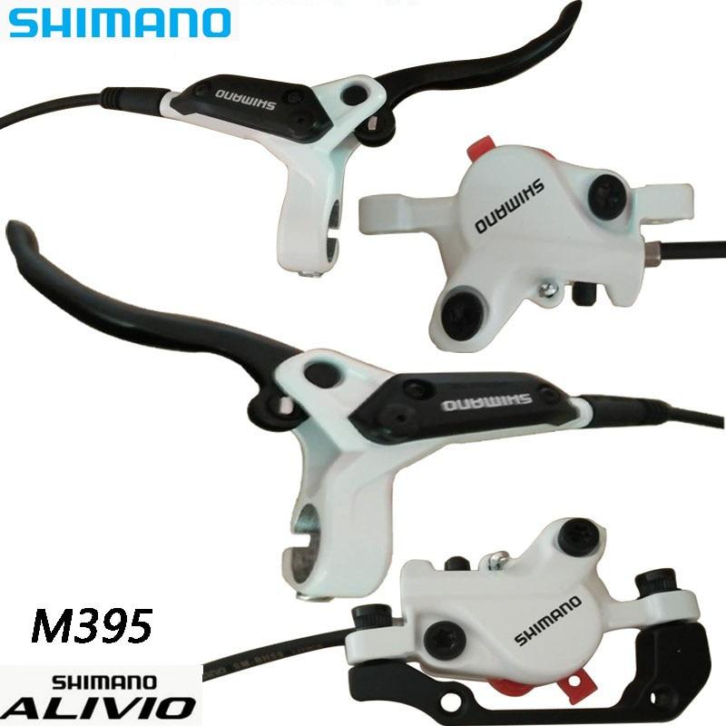 SHIMANO ALIVIO M395 MTB Bike Hydraulic Disc Brake Set Clamp Mountain For Brake Bicycle Disc Brake XT& Brake Sheet Screws