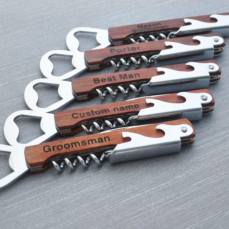 Personalized Multi Tool Opener Groomsmen Gifts Wine Bottle Opener