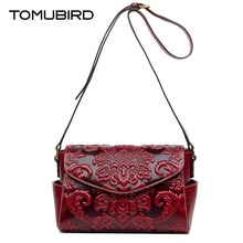 TOMUBIRD 2017 new trend retro embossing superior leather-based designer well-known model ladies baggage luxurious real leather-based shoulder bag