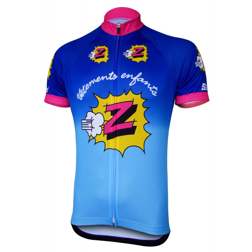 NEW Z RACING Team Pro Cycling Jersey Set Mens Blue Clothing Bike Breathable Clothes