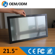 """21.5 """"Resistive touch screen (16:9) all in one pc industrial pc with intel D525 cpu Installation desktop/wall hanging/ embedded"""