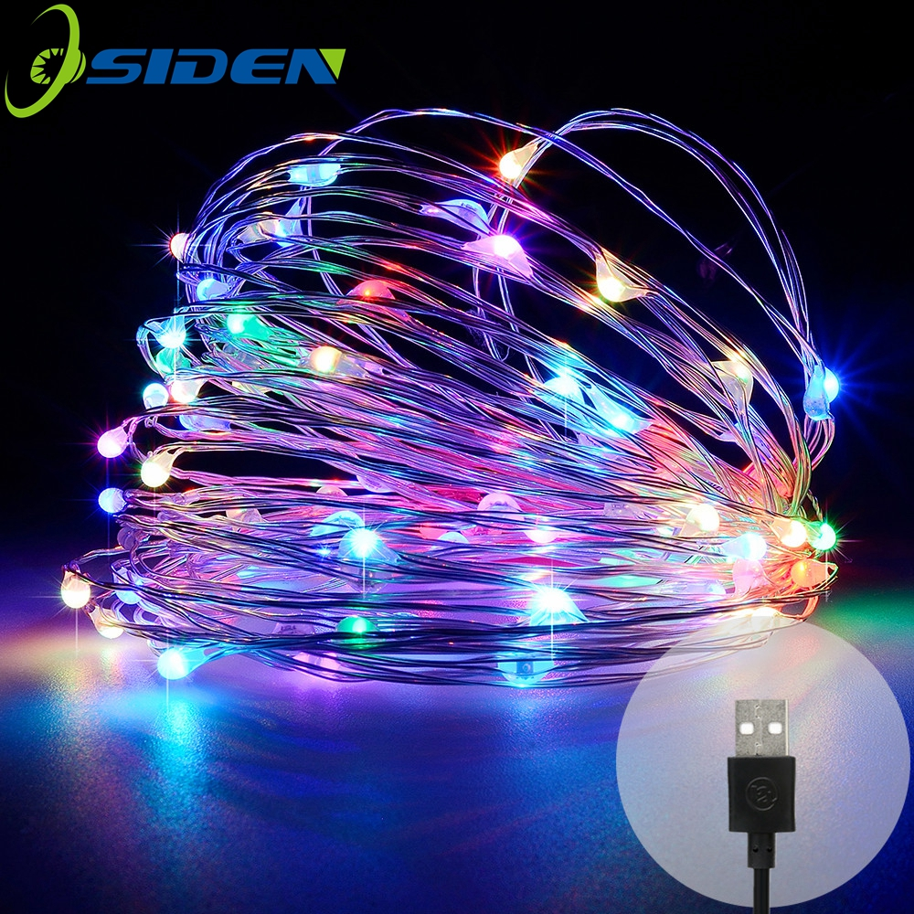 Led String Lights DC5V USB 10M 33FT 5M 50LEDS exterior impermeable Festival de Navidad Banquete de boda Guirnalda Decoración Hada led