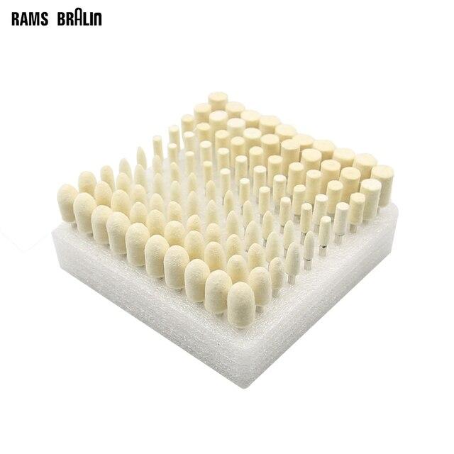 100 szt. Głowice szlifierskie z filcu wełnianego 4 10mm Dremel Mini tarcza filcowa do metalu